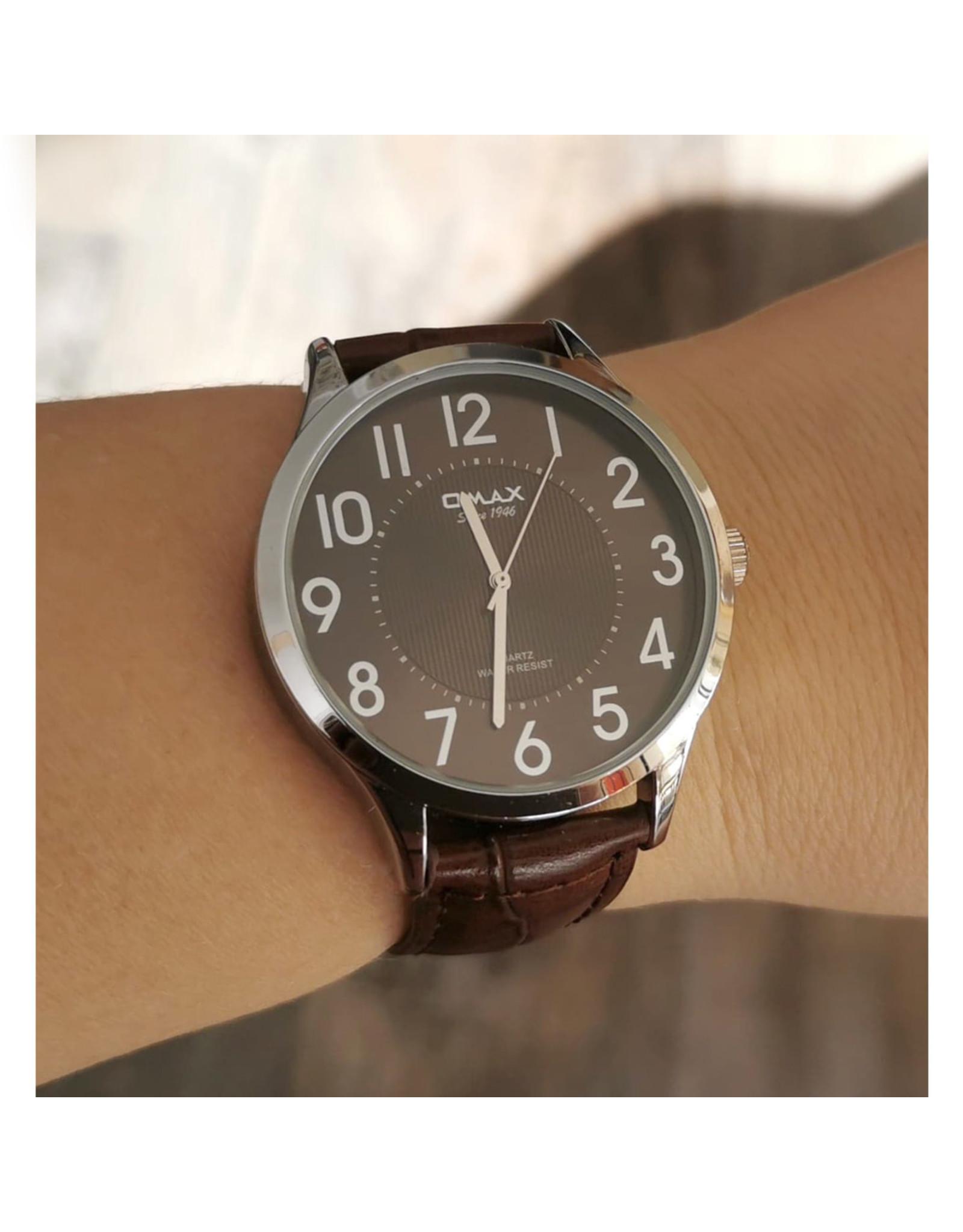Omax Fond brun, bracelet brun
