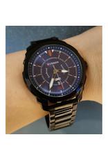 Curren Bracelet noir, fond bleu flash