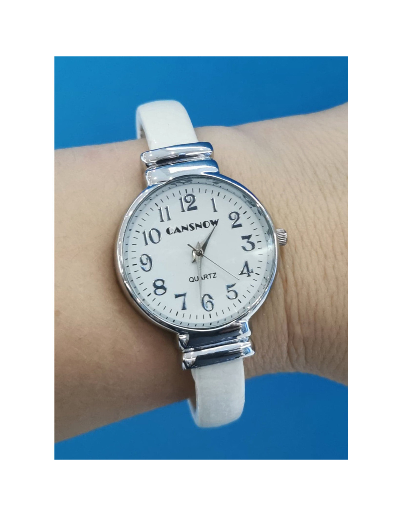 Cansnow Bangle blanche ronde