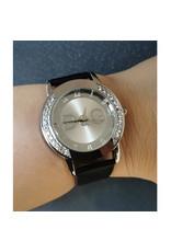 Fashion watch DG bracelet de cuir noir
