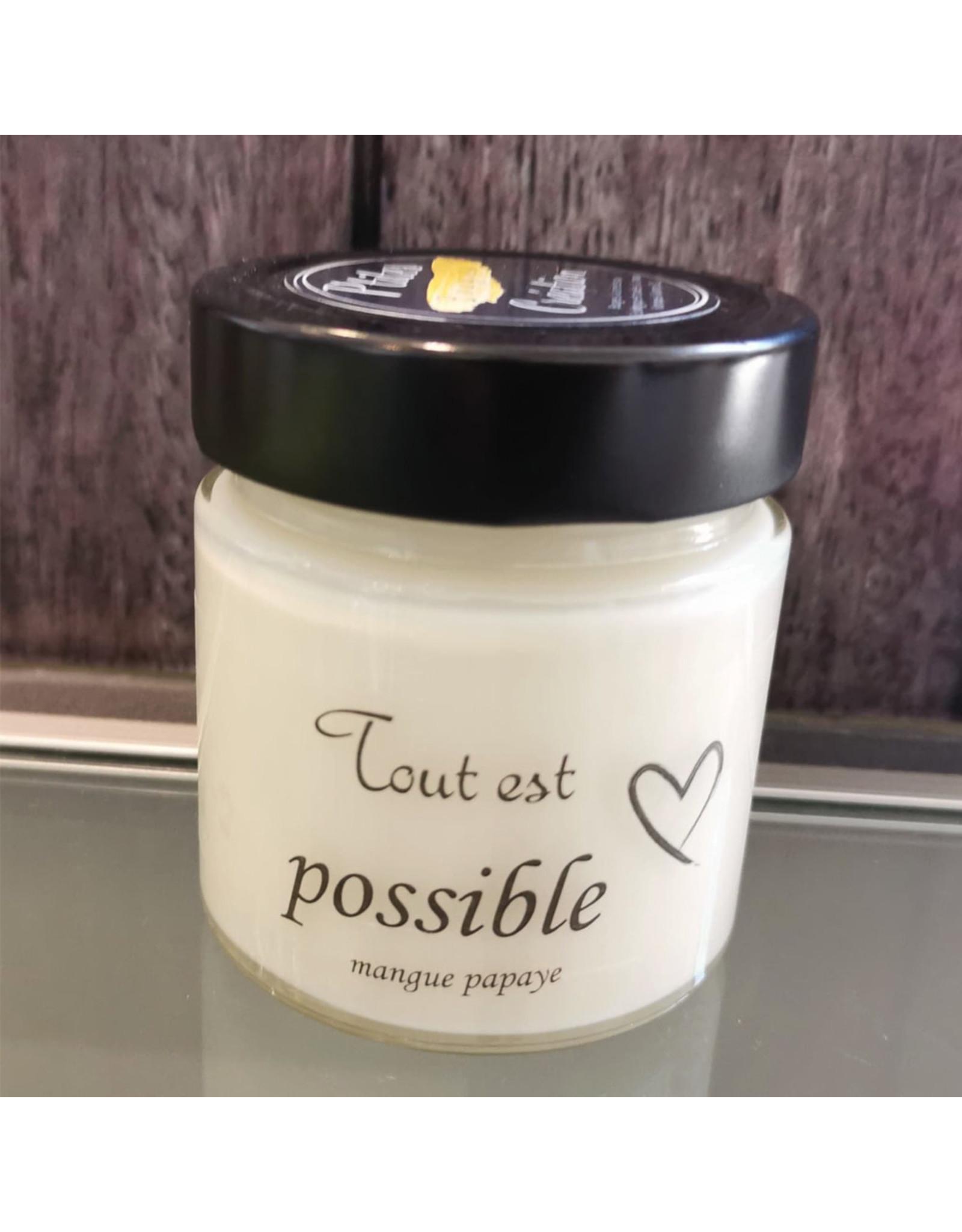 P'tites bougies créations Bougie - Tout est possible - Mangue Papaye