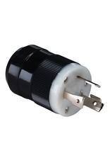 Marinco Trolling Motor Plug (Male) 12/24V - Black-30 Amp