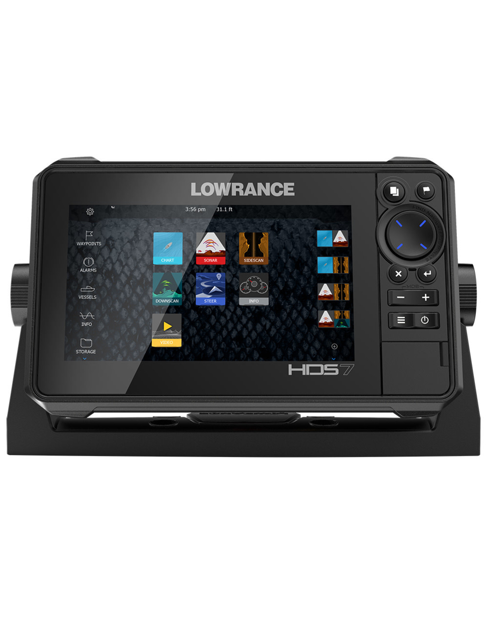 Lowrance HDS-7 LIVE with Active Imaging 3-in-1 Transom Mount & C-MAP Pro Chart