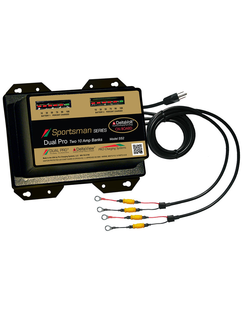 Dual Pro Sportsman Series Battery Charger - 20A - 2-10A-Banks - 12V/24V