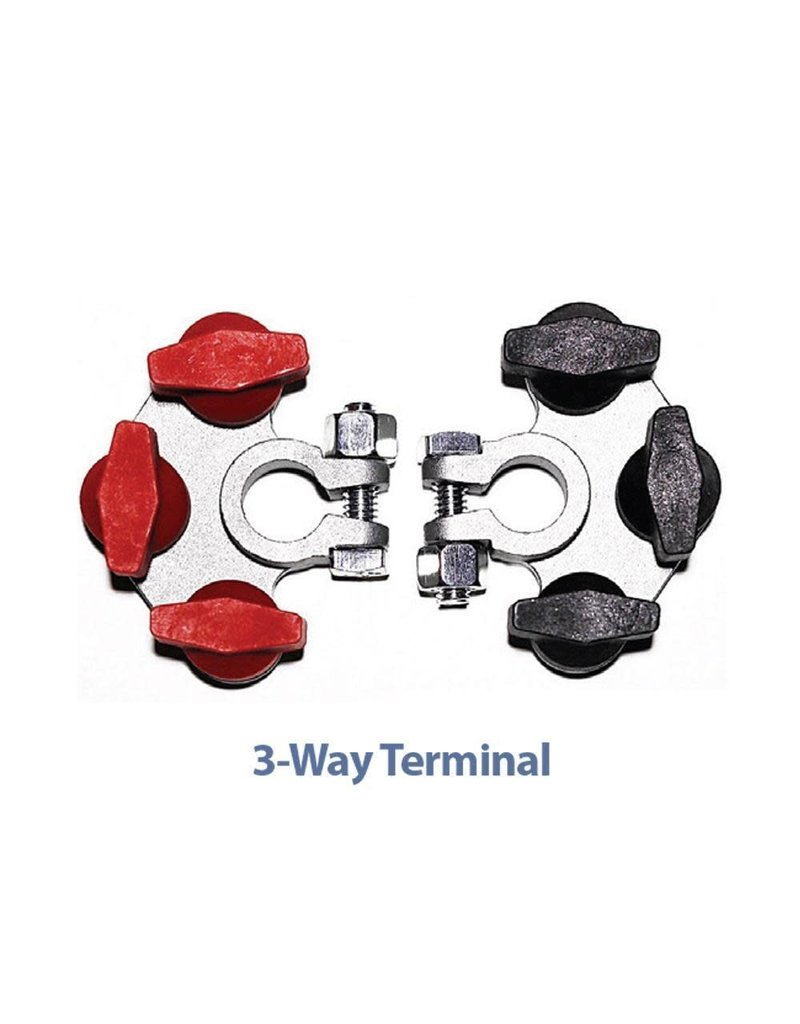 TH Marine Battery Terminal Multi-Connection - 3 Way