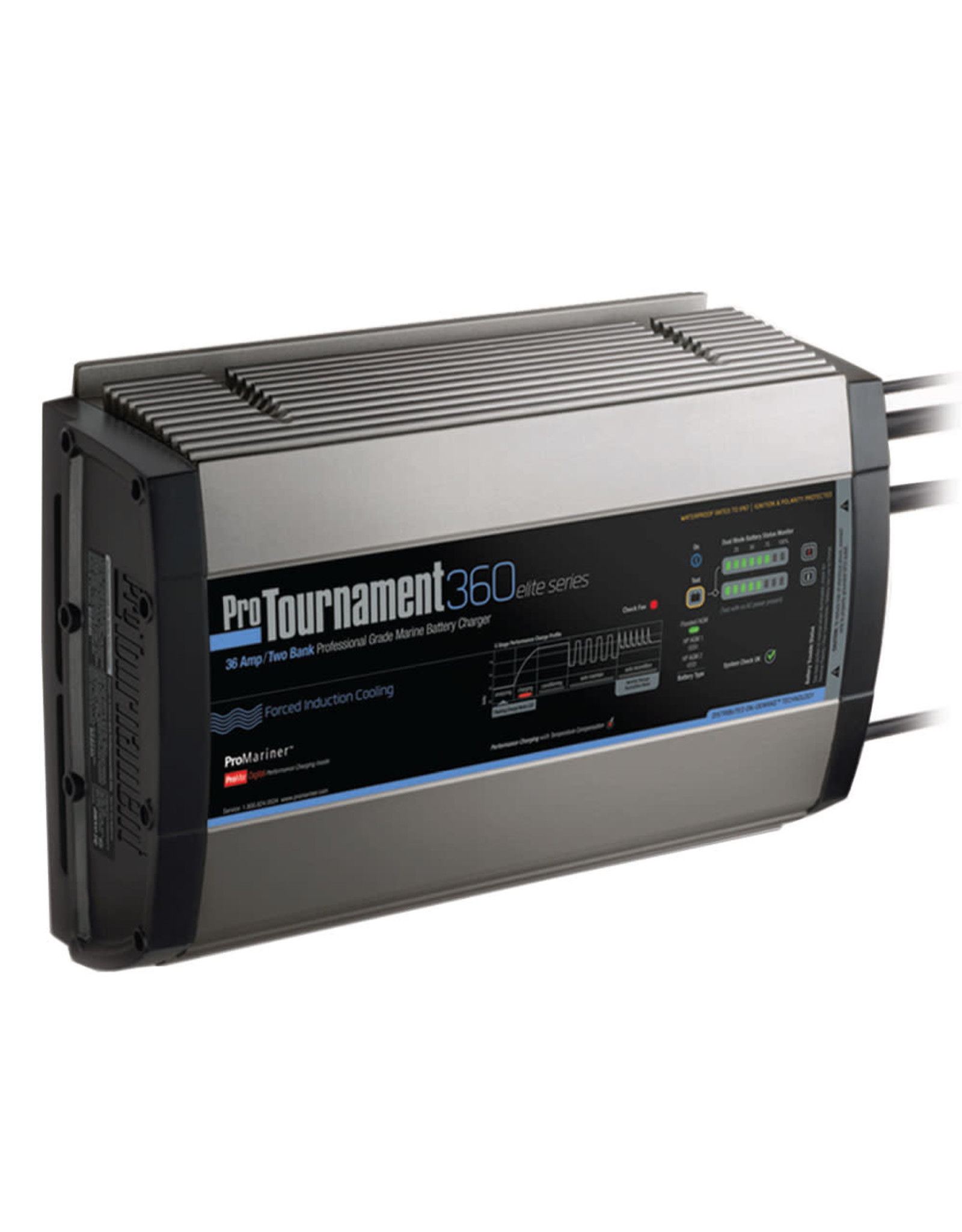 ProMariner ProTournament 360 elite Dual Charger - 36 Amp, 2 Bank
