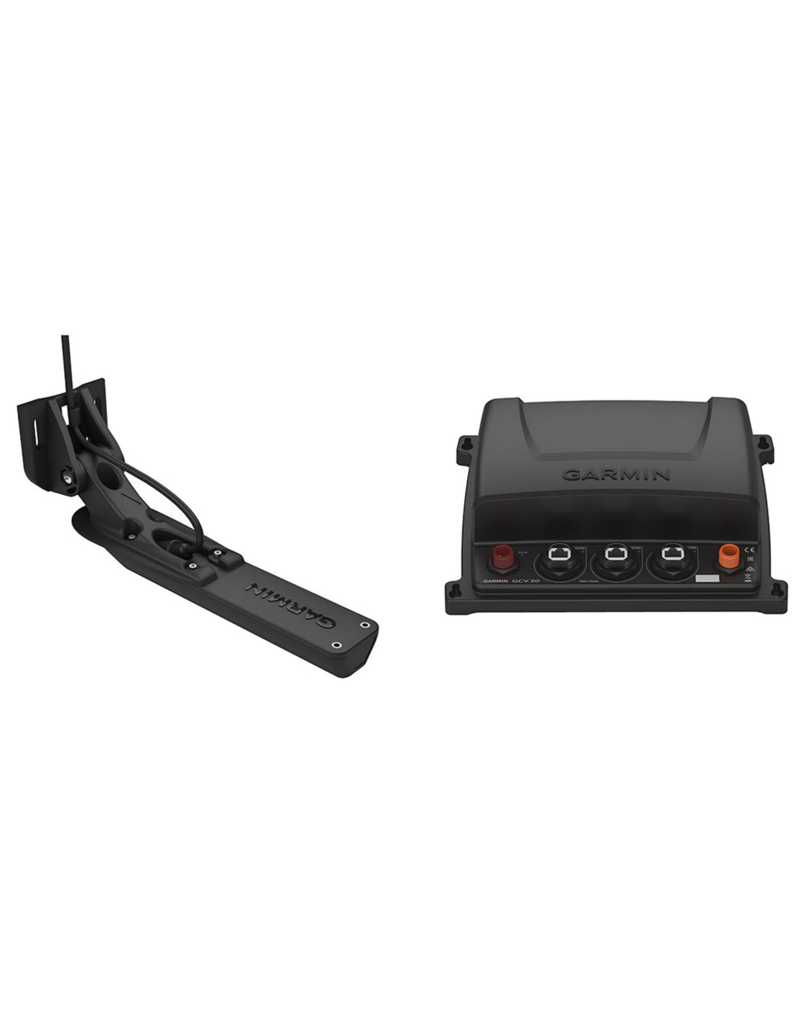 Garmin GCV™ 20 Ultra HD Scanning Sonar Black Box with GT34UHD-TM Ultra HD Transom Mount Transducer