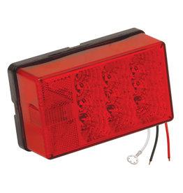"Wesbar Wesbar 4"" X 6"" Waterproof LED 8-Function, Left/Roadside Trailer Light"