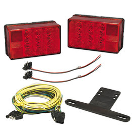Wesbar Wesbar Waterproof LED 4x6 Low Profile Trailer Light Kit