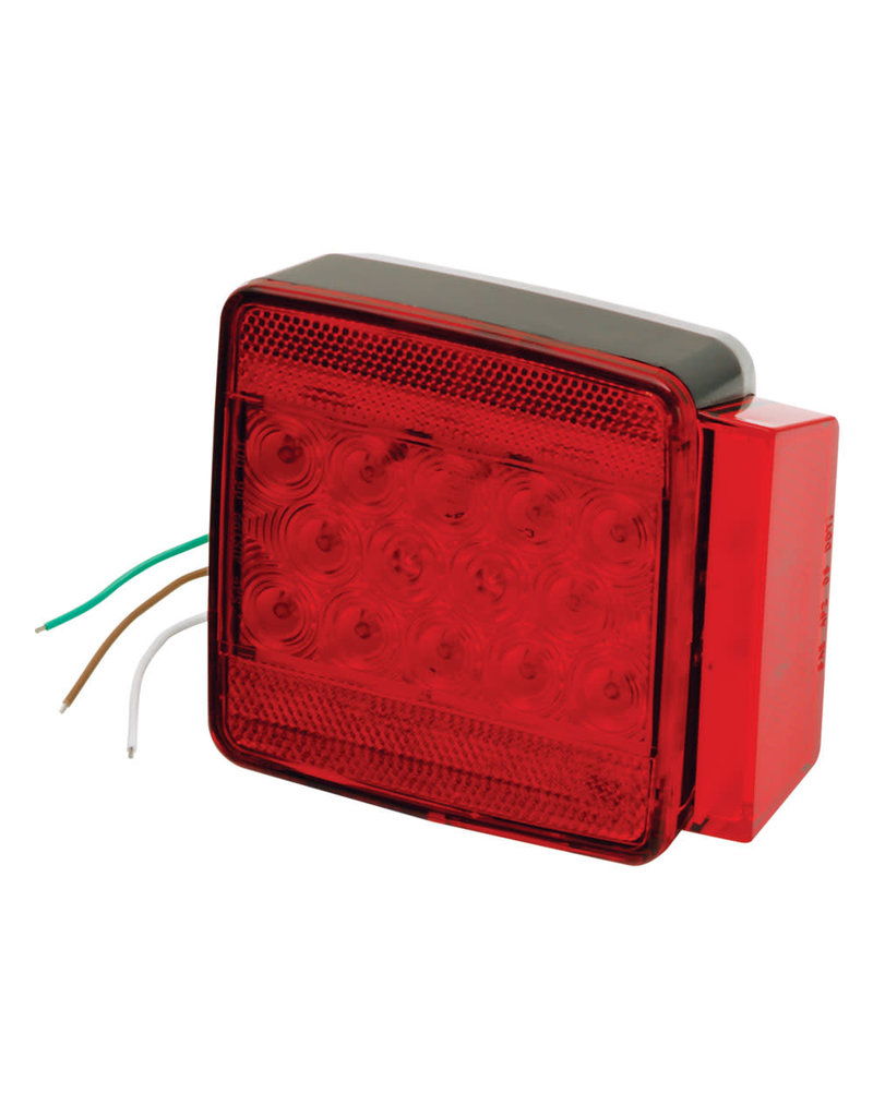 """Wesbar Wesbar Under 80"""" Submersible LED 6-Function Right/Curbside Trailer Light"""