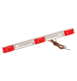 Wesbar Wesbar Waterproof LED ID Light Bar - White Base-Red