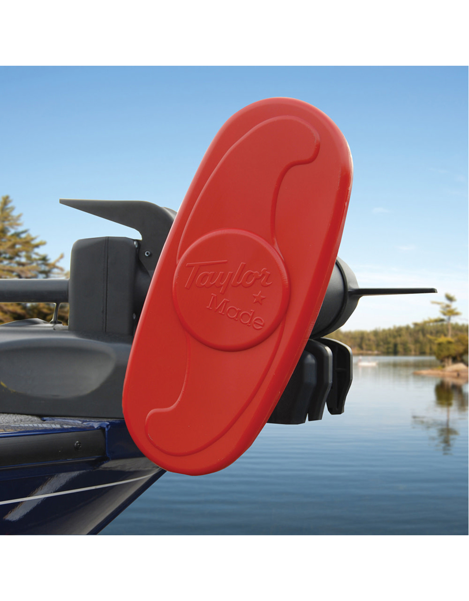 """Taylor Made Trolling Motor Propeller Cover- 2-Blade Cover - 12""""- Red"""
