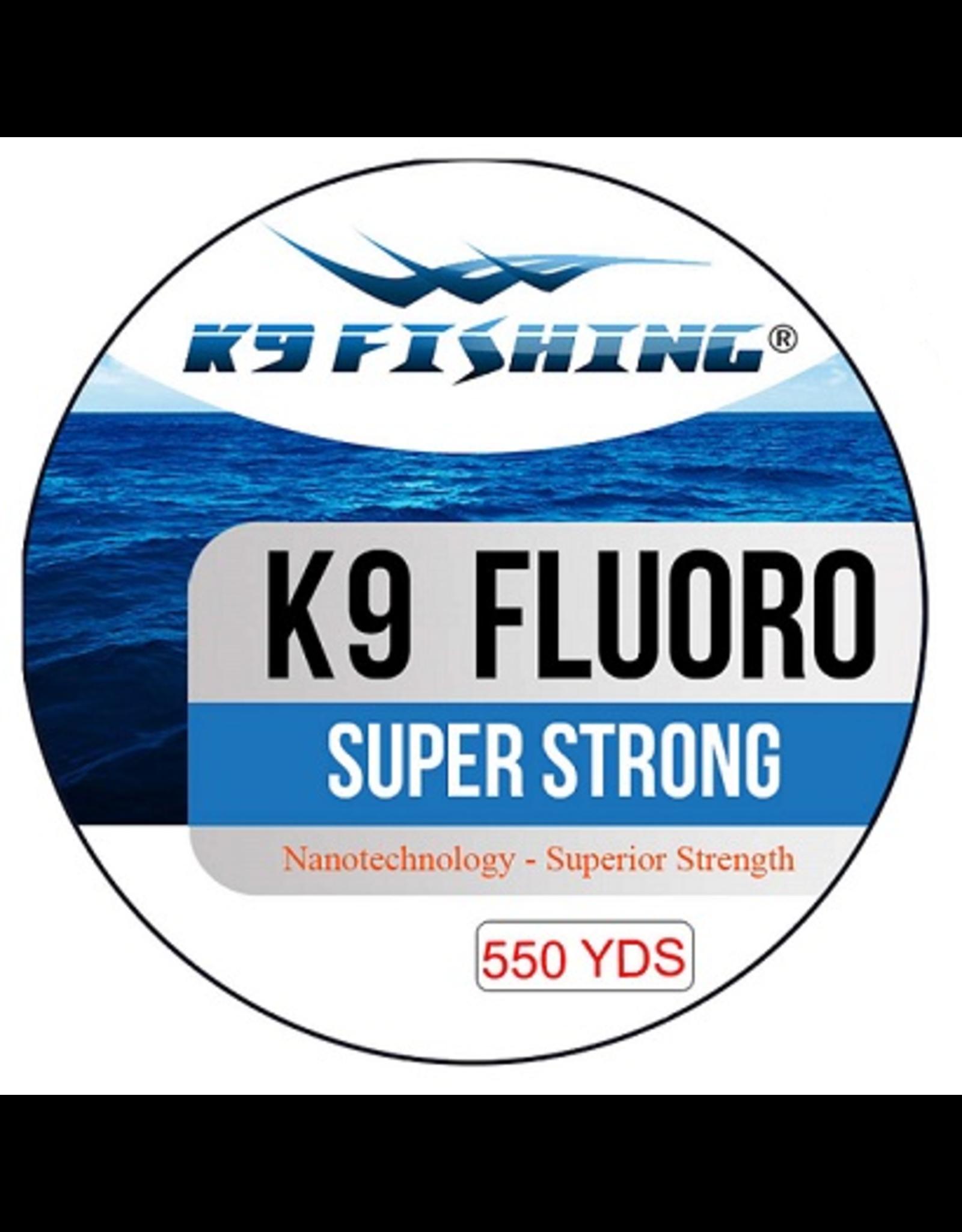 K9 Fishing K9 Fluoro Clear 550 yd Spool