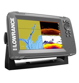 "Lowrance HOOK2-7 7"" Chartplotter/Fishfinder SplitShot w/ US Inland Chart"