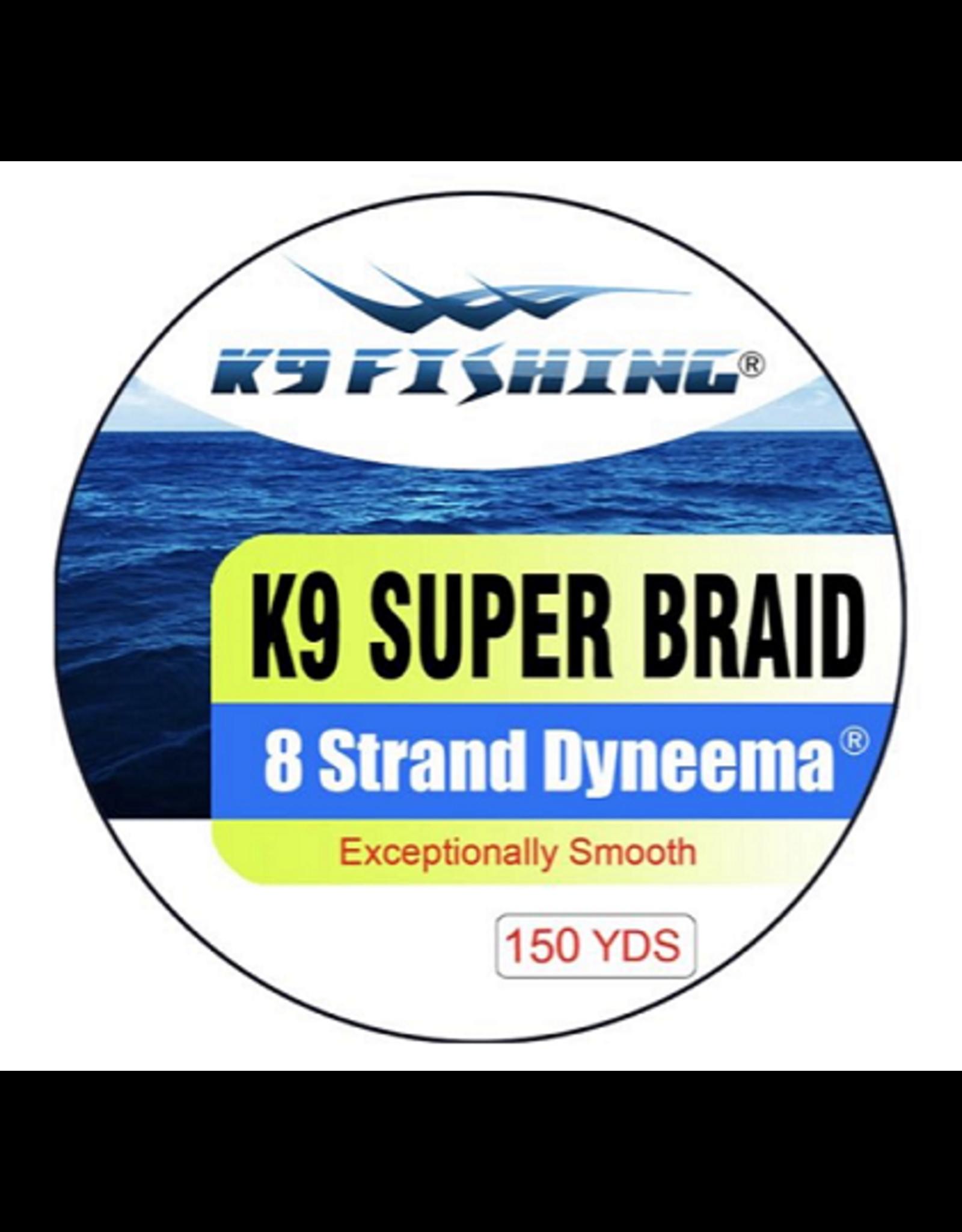 K9 Fishing K9 Strand Braided Yellow 150 10 lb