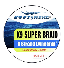 K9 Fishing K9 Strand Braided Yellow 150 10 lb