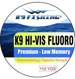 K9 Fishing K9 Fluoro Hi-Vis 110 6 lb