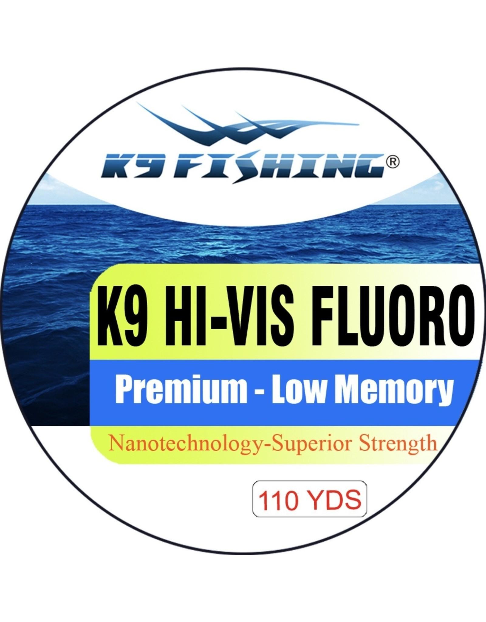K9 Fishing K9 Fluoro Hi-Vis 110 4 lb