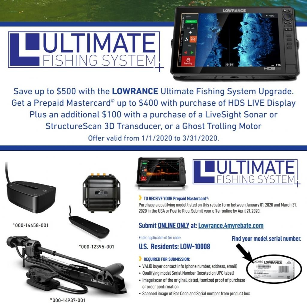 Lowrance Rebates for 2020