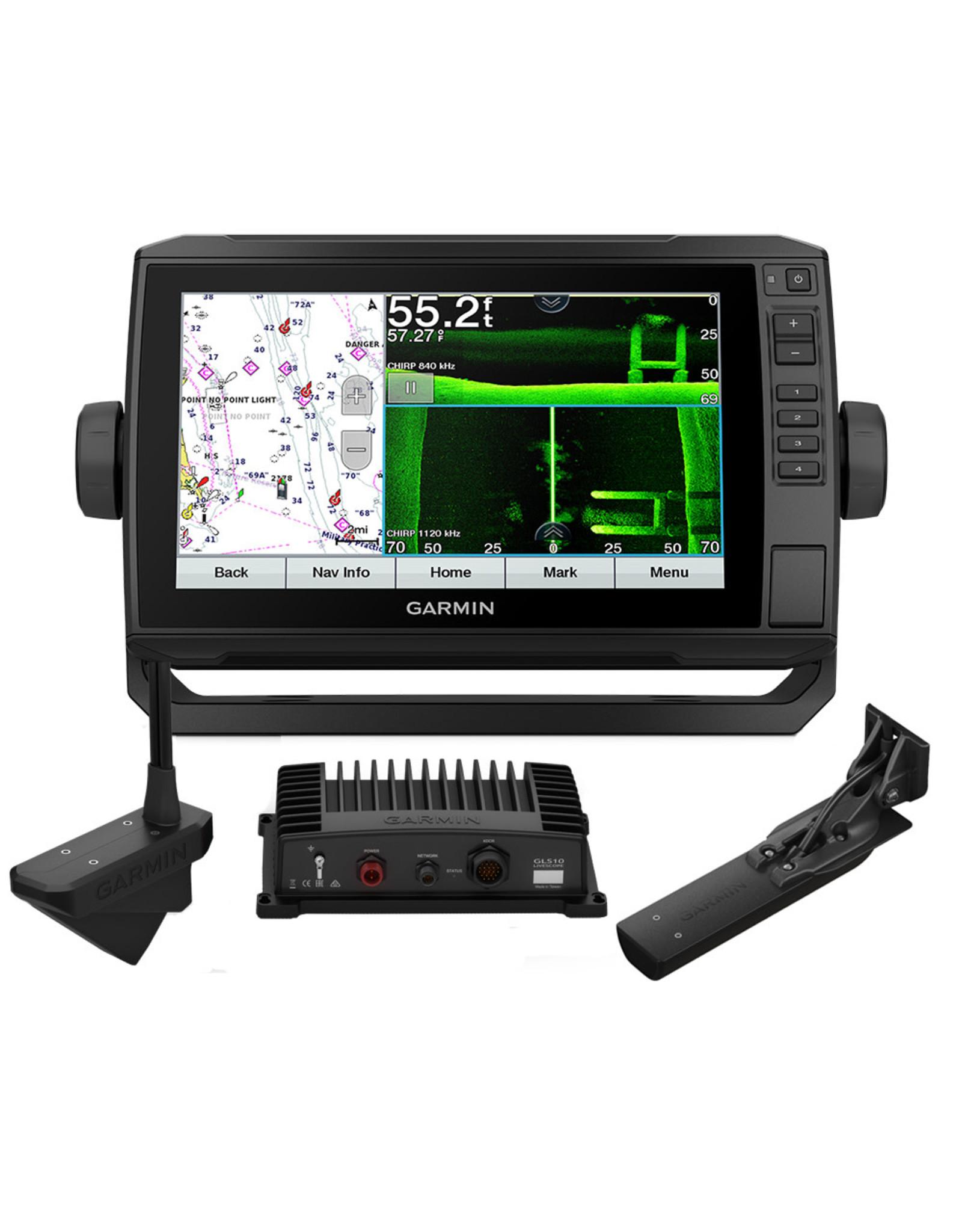Garmin ECHOMAP™ UHD 93sv Combo GPS/Fishfinder Livescope Bundle