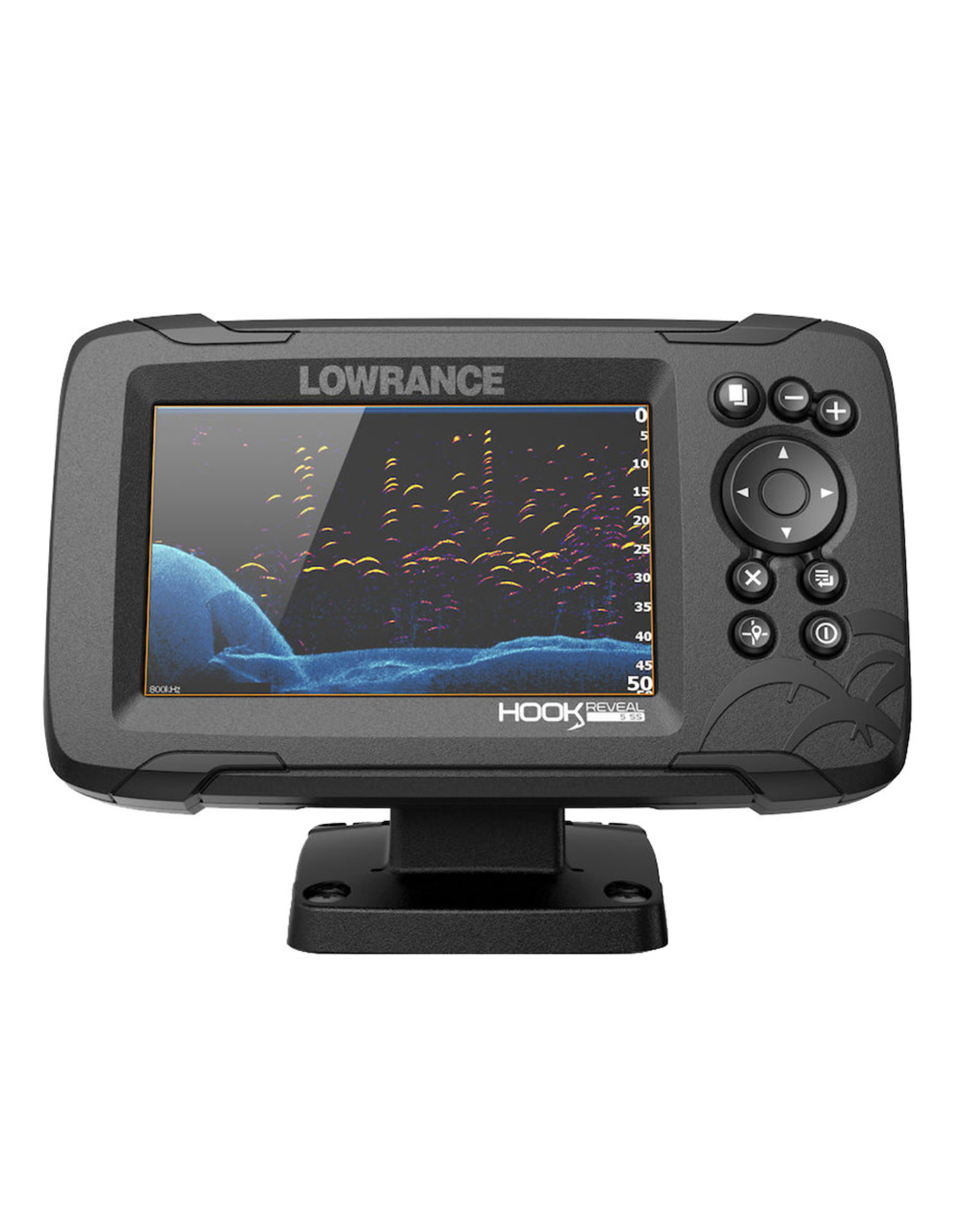 Lowrance HOOK Reveal 5 Combo with SplitShot Transom Mount & Navionics+ Chart