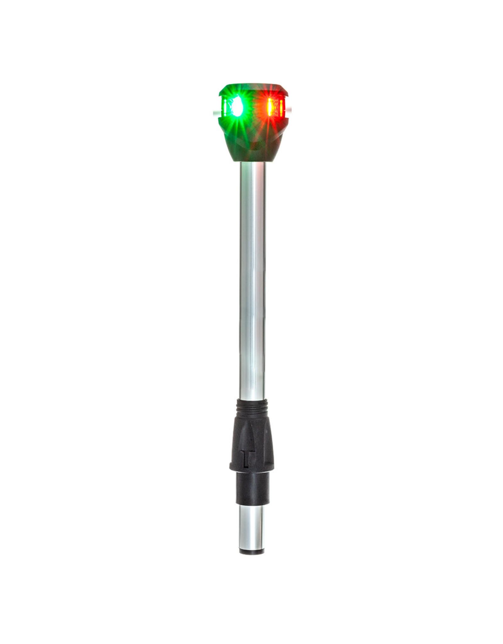 "Attwood Bi-Color Navigation Pole Light w/Task Light - Straight - 10"""