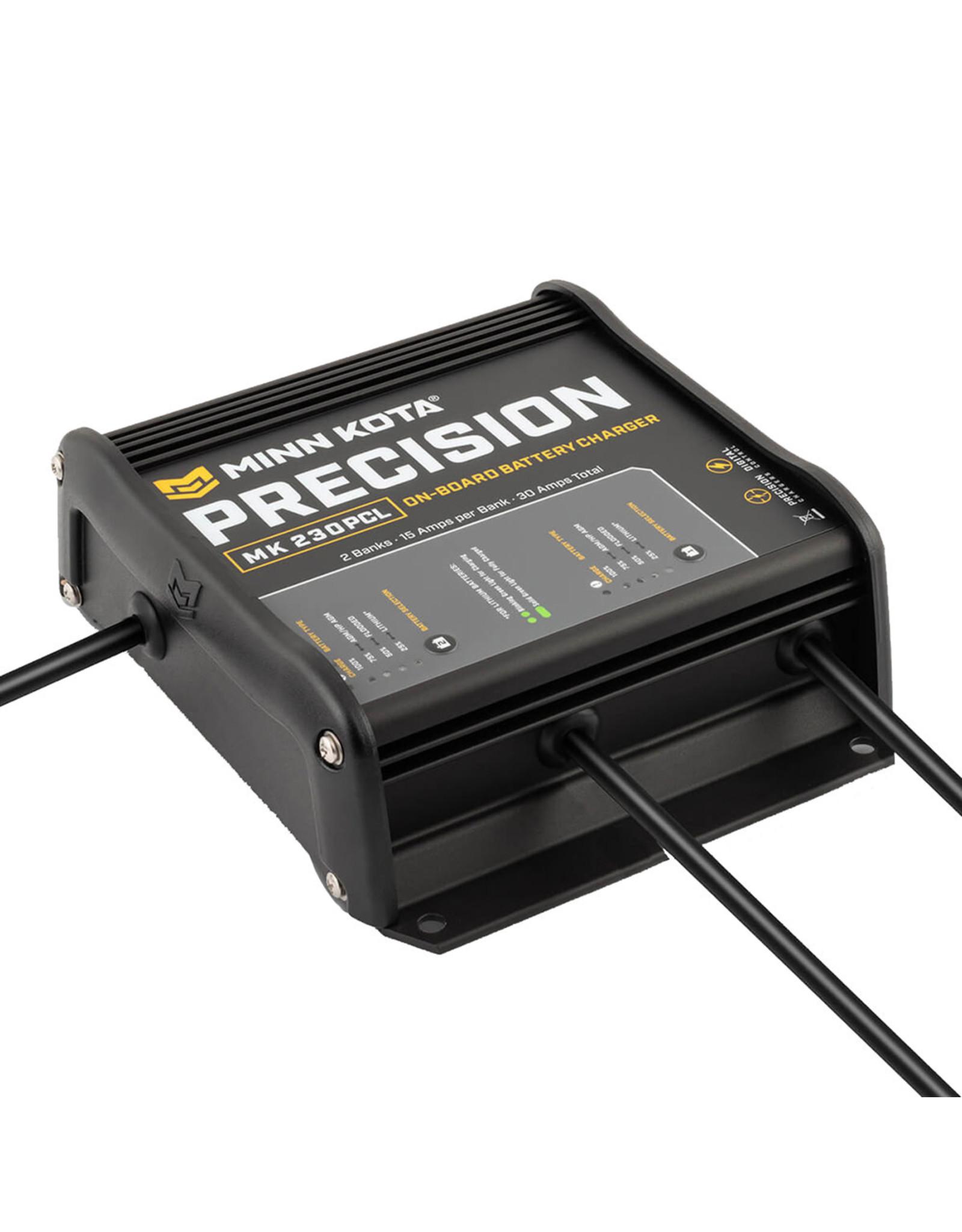 Minn Kota Precision Charger MK-230 PCL 2 Bank x 15 AMP LI Optimized Charger