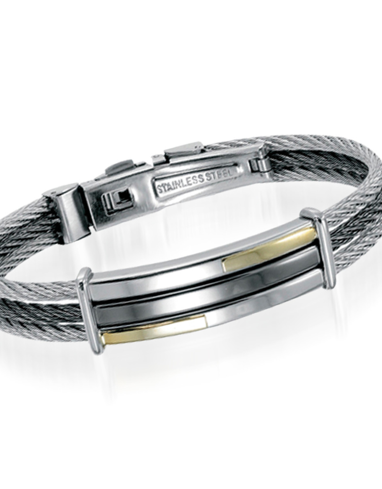 Stainless Steel Cable Bracelet Nacre