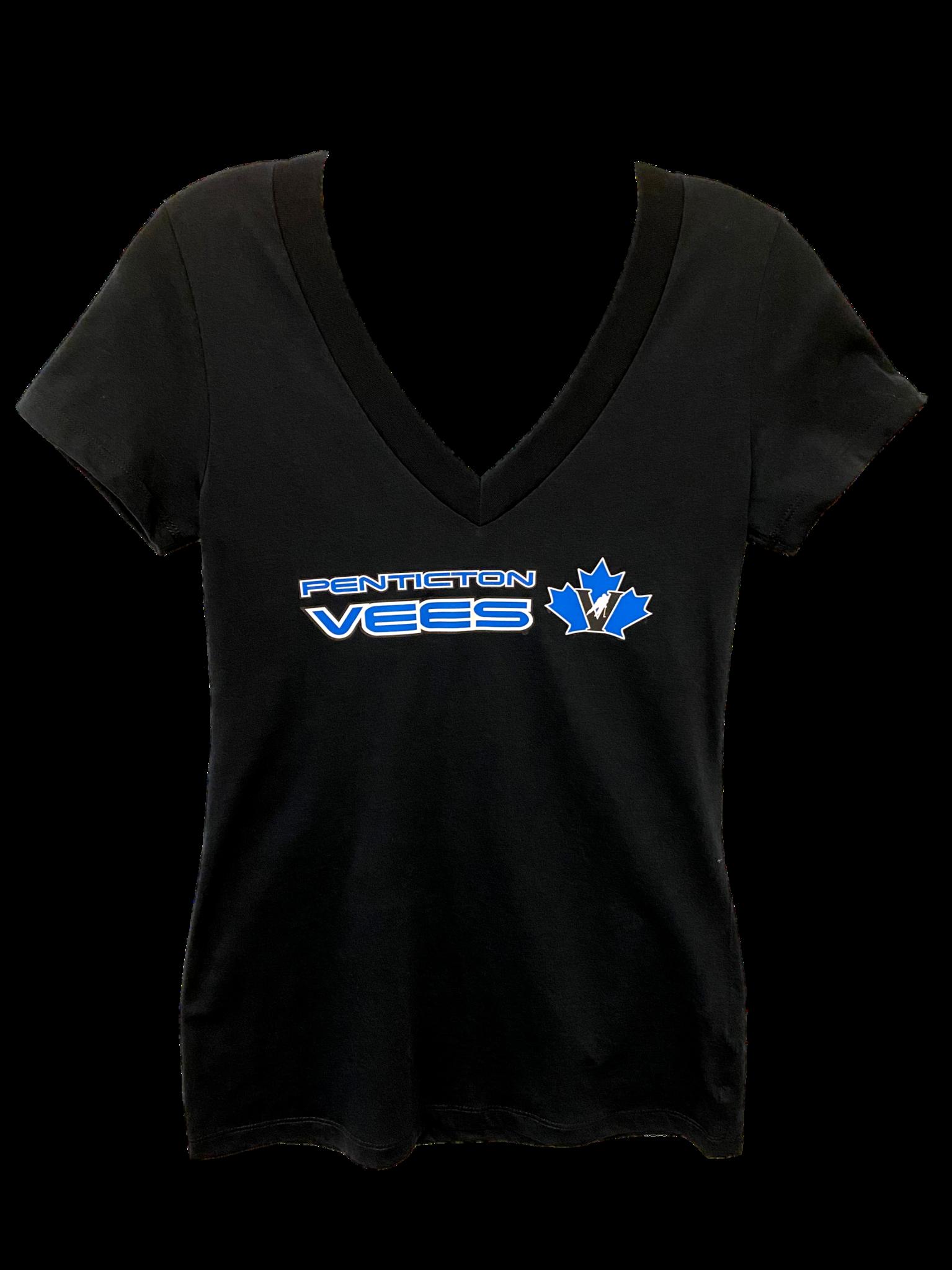 Levelwear Ladies V neck T shirt black