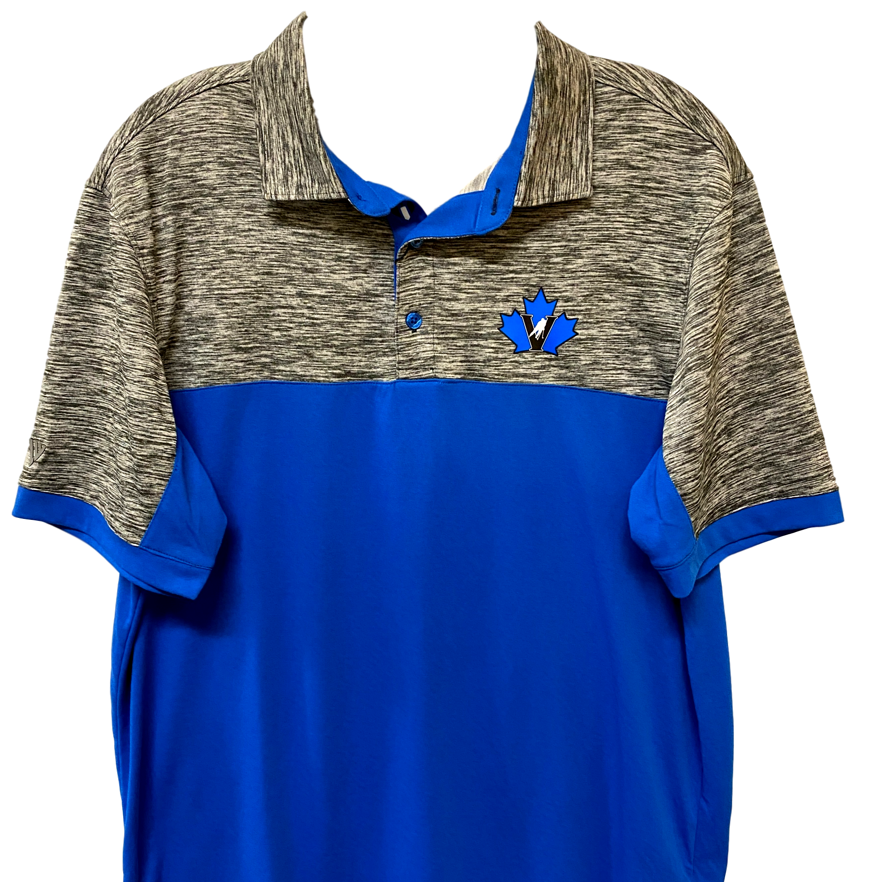 Levelwear Penticton Vees Mens Golf Shirt Blue Grey