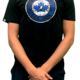 Levelwear Black mens T shirt with bullseye logo