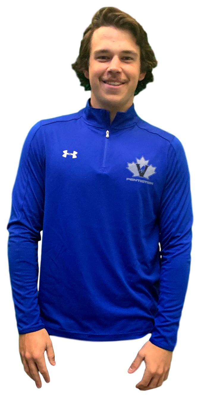 Under Armour UA Blue mens 1/4 zip pullover