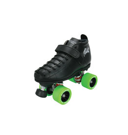 Riedell Riedell She Devil- 126 boot, Thrust plate, Striker wheels, ABEC 5 bearings, black adjustable stops