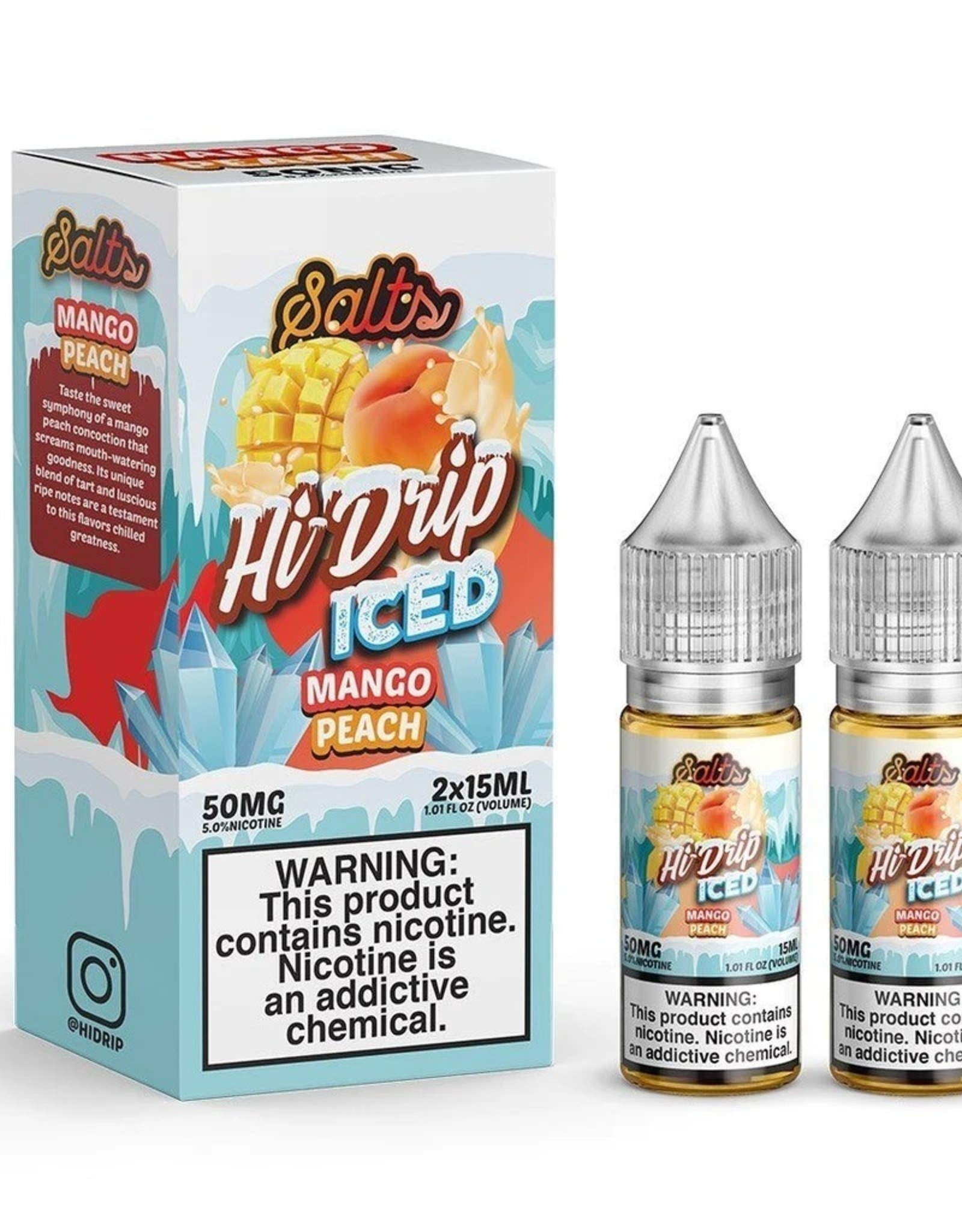 Hi-Drip Iced Peachy Mango Salts By Hi-Drip