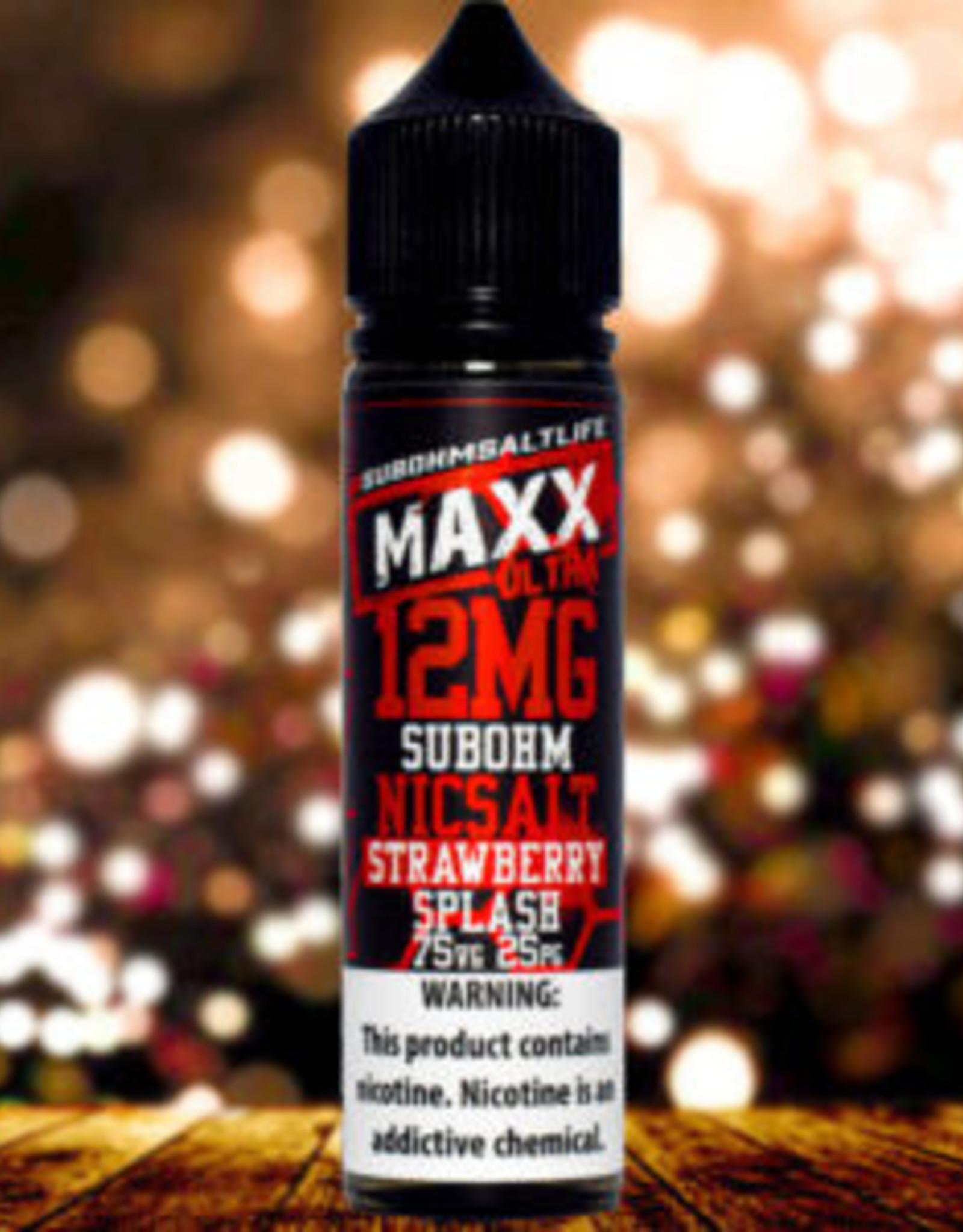 Ultra Maxx Strawberry Splash Sub ohm Nic Salts By Ultra Maxx