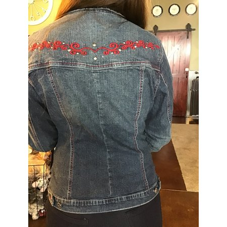 Monroe & Main Denim Jackets  Red Embroidered