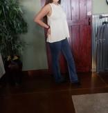 Ethyl Denim blue jeans Flair leg