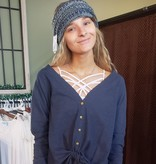 Survival Over sized Waffle cardigan Button front