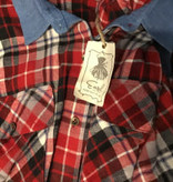 Easel Red checked Oversized w collar
