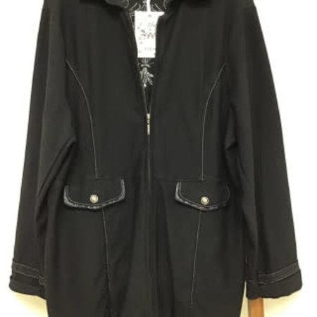 Ethyl Black Jacket w/ Silver embroidery