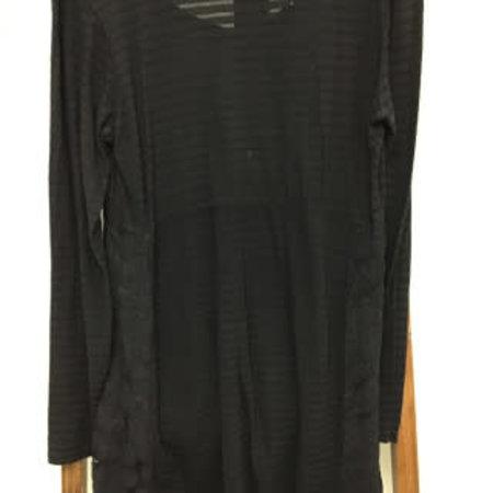 Cut loose Black Tunic W/ lace sides v-neck