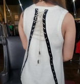 Pol Sleeveless sweater w/ lace up Back