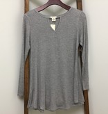 Yelete Tunic With  Keyhole long sleeve