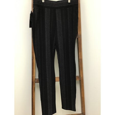Ethyl Ponte Striped Heavy Weight Leggings