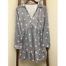 Polka Dot Dress Grey Long Sleeve