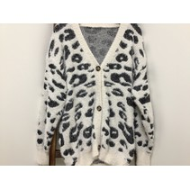 Cheetah Cardigan White