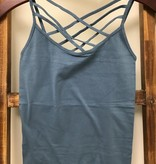 Zenana Outfiters Triple Criss-Cross Front Cami (one size)