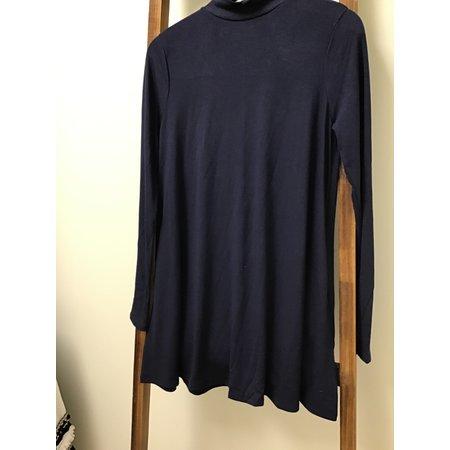 Zenana Outfiters Mock Neck Long Sleeve W/side pockets