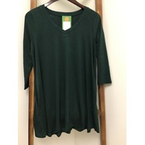Flared Top V-Neck W/side pockets 3/4 Sleeve