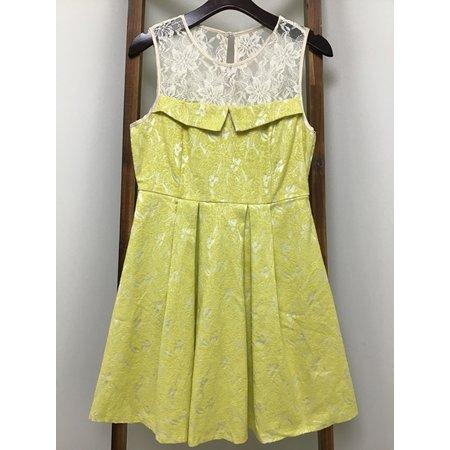 RYU Lace Top Jacquard Dress/lace /tie-up back